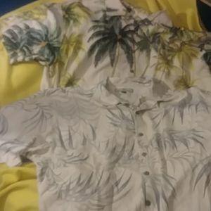 Lot of 2 tommy bahama silk shirts 2XL